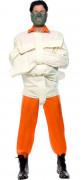 Das Schweigen der Lämmer™ Lizenzkostüm Hannibal Lecter Kostüm weiss-orange