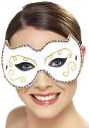 Glamouröse Venezianische Augenmaske weiss