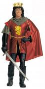 Königlicher Ritter Kostüm rot-gelb-grau
