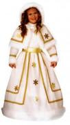 Schneekönigin Kinderkostüm weiss-gold