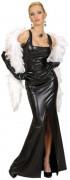 Filmdiva Damenkostüm Abendkleid schwarz