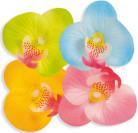 Orchideen-Blüten Tischdeko 20 Stück blau 5cm