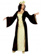 Mittelalterliche Prinzessin Kostüm Deluxe braun-beige
