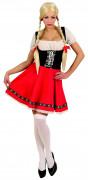 Holländerin Damenkostüm schwarz-rot-weiss