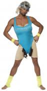 Aerobic Sportler Kostüm blau-beige-schwarz