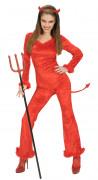 Teufelin Overall Damen-Kostüm rot