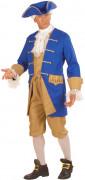 Kolonial Offizier Herrenkostüm blau-beige