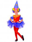 Zirkusclown-Kostüm für Mädchen bunt