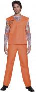 Gefangener Herrenkostüm Sträfling orange-bunt