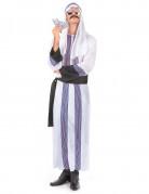 Scheich Kostüm Orient weiss-schwarz-lila