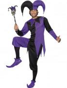 Harlekin Clown Kostüm schwarz-lila