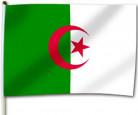 Algerien-Fahne Algerische Flagge Länderdeko grün-weiss-rot 30x46cm