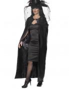 Luxus Hexen Cape Umhang schwarz