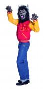 Michael Jackson Thriller Werwolf Lizenz-Kostüm rot-gelb