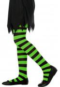 Ringelstrumpfhose für Kinder schwarz-grün