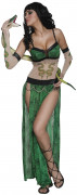 Cirque Sinister Teuflisches Schlangenbeschwörerin Zirkus Damen-Kostüm grün