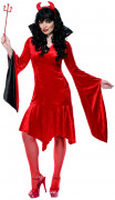 Teufel Gebieterin Damen-Kostüm rot