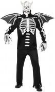 Gothic Manor Dämon Skelett Kostüm schwarz-weiß