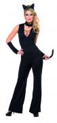 Schmuse Katze Damen-Kostüm schwarz