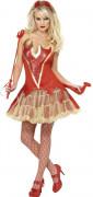 Teufelin Diabla Damen-Kostüm rot-gold