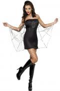 Spinne Damen-Kostüm schwarz