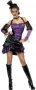 Can Can Hexe Damen-Kostüm schwarz-lila