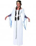 Mittelalter Dame Kostüm weiss