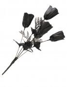 Gothic Blumenstrauss Halloween-Rosen-Bouquet schwarz 28cm