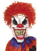 Horror-Clown Maske Halloween schwarz-rot-weiss
