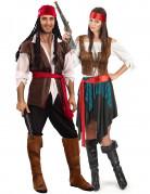 Piraten-Paarkostüm für Erwachsene bunt