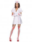 Heisse Krankenschwester Damenkostüm ärztin weiss-rot