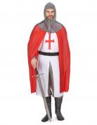 Kreuzritter Herren-Kostüm grau-rot-weiss
