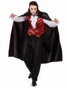 Vampir-Kostüm für Herren Blutsauger Halloweenkostüm schwarz-bordeaux