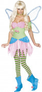 Rebel Toons Tinkerbell Glöckchen Damen-Kostüm pink-grün-blau