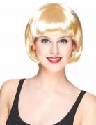 Glatte Bob-Perücke Spassperücke blond