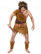 Steinzeitmensch-Kostüm für Erwachsene mit Leopardenmuster