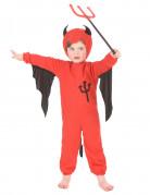 Süsses Teufelskostüm für Kinder rot-schwarz