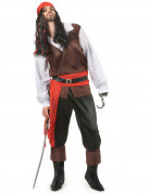 Piratenkostüm für Herren schwarz-braun