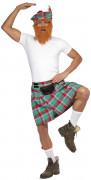 Schotten Rock kariert türkis-rot