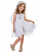 Engel-Mädchenkostüm für Kinder weiss-silber