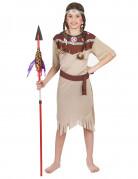 Kleine Indianerin Kinderkostüm Wilder Westen hellbraun-dunkelbraun