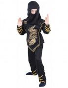 Ninja-Kostüm für Kinder schwarz-gold