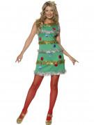 Tannenbaum Damenkostüm Weihnachten grün-bunt
