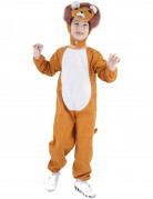 Löwenkostüm für Kinder orange-braun-weiss