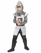 Mittelalter Kreuzritterkostüm für Kinder weiss-schwarz-silber