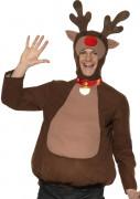 Rentier Kostüm Weihnachten braun-beige