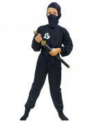 Ninja Kinderkostüm Kämpfer schwarz