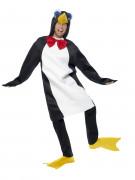 Pinguin Kostüm schwarz-weiss-gelb