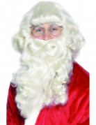 Weihnachtsmann Bart Nikolaus weiss