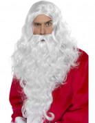 Weihnachtsmann Perücke und Bart weiss